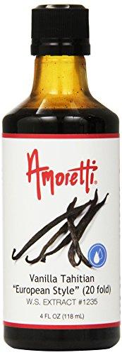 Tahitian Vanilla Extract Fold - Amoretti Vanilla Tahitian European Style Extract, 20 Fold, 4 Fluid Ounce
