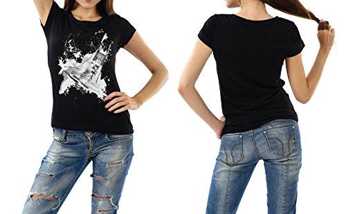 Ski_Alpin_III schwarzes modernes Damen / Frauen T-Shirt mit stylischen Aufdruck