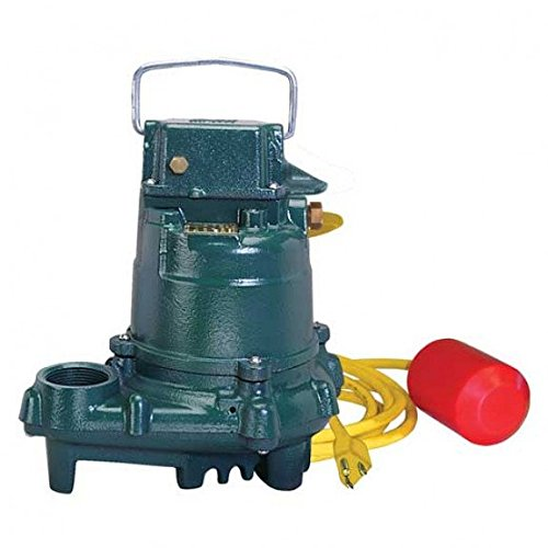 Zoeller 3137-0003, Model D3137 High Temperature Submersible Pump, 0.5 HP, 230V, 1PH, Iron, Automatic, 15 ft. Cord, 1-1/2 Discharge