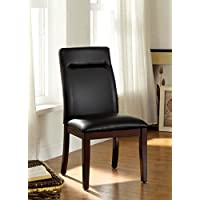 Furniture of America Adara Modern Leatherette Dining Chair, Set of 2