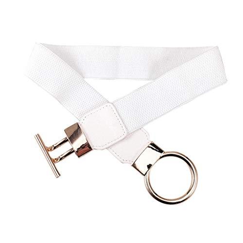 Mission Wall Mount Jewelry - levacy Fashion New Women Girdle Leather Belt Rope Waistband Belt Girl Elastic Elastic Band braided belt (White)