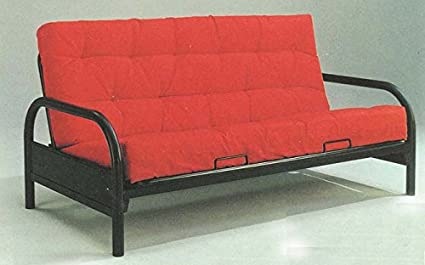 Amazoncom Afo 4561 Black Metal Futon Sofa Bed Kitchen Dining