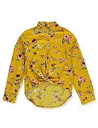Mona Lisa Girls' Wildflowers Button-Down Top