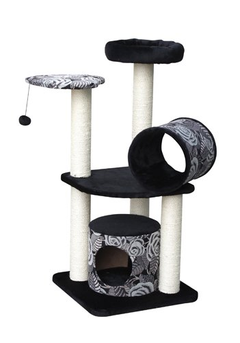 Europet-Bernina-International-Scratching-Tree-Michelle-50-x-50-x-105-cm-Grey-Black