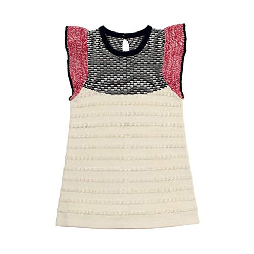 Discount KpopBaby Toddler Baby Girls Sleeveless Patchwork Knitting Dresses Outfits Dress - Dvd Pig Papa