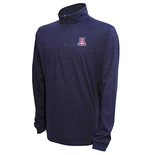 - NCAA Arizona Wildcats Men's Campus Specialties Long SLV Quarter Zip Pullover, Heather Blue, Medium