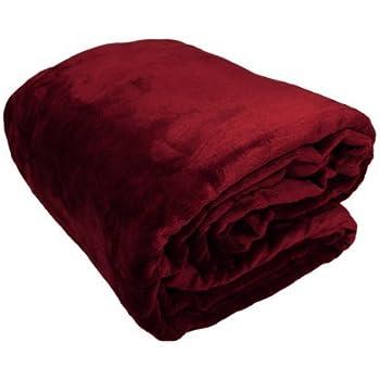 Amazon Com Solid Microfiber Plush Queen Mink Blanket
