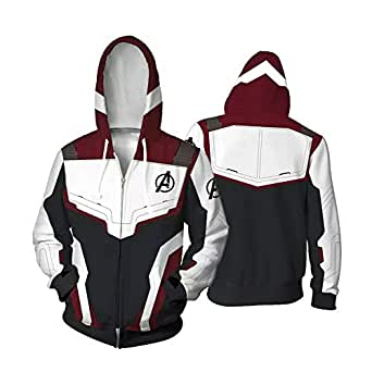 Unisex Avengers Endgame Hoodie Superhero Hoodie Adult Sweatshirt Jacket Sweatpants for Halloween Cosplay Costume (XL)