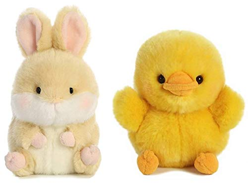 Aurora Plush Rolly Pet Easter Bundle, Dewey Duck and Lively Bunny