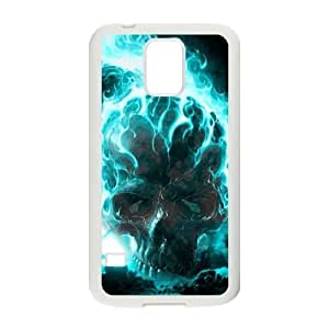 ALICASE Hard Shell Diy Case Skull Cover For Samsung Galaxy S5 i9600 [Pattern-4] by mcsharks