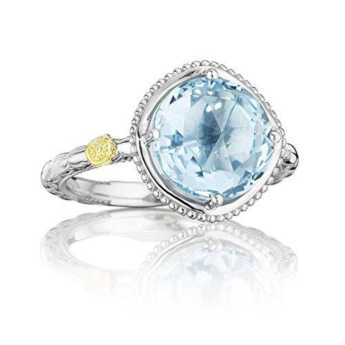 (Tacori SR13502 Island Rains Bold Sterling Silver Sky Blue Topaz Ring (7))