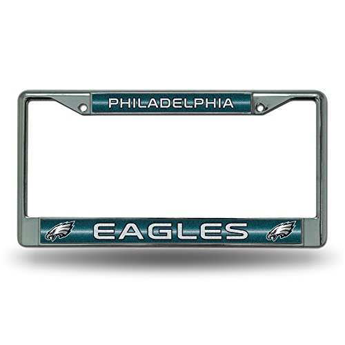 NFL Philadelphia Eagles Bling Chrome Plate Frame (Eagles License Plate)