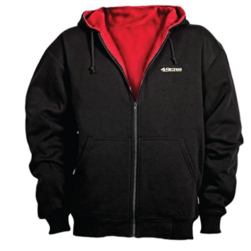 Zip Thermal Hooded Pullover Sweatshirt (Dunbrooke NFL Craftsman Full Zip Thermal Hoodie, San Francisco 49ers -)