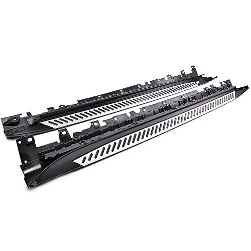 Advan-Emotion BMW X5 F15 14-16 Aluminum Side Step Running Board Nerf Bar Black Silver