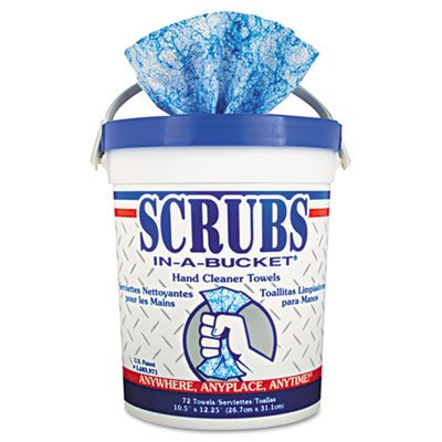 Scrubs Hand Cleaner Cloth Towels 72 Count