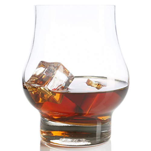 (Taylor'd Milestones Reserve Whiskey Glass - Set of 2 10.5 oz Scotch Glasses. Premium Bourbon Rocks Glass Shaped for Improving Tasting and Aroma of Spirits. Crystal Clear Glassware)