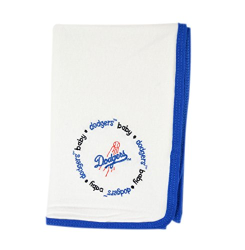 Official MLB Fan Shop Authentic Ultra-Soft New Born Baby Receiving Major League Baseball Team Blanket (Los Angles Dogers)