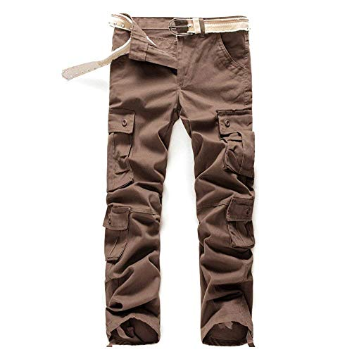 Outdoor Braun Casual Tools Tinta Pantaloni Marca Di Fashion Tasche Vintage Cargo Mode Bolawoo Unita Multi Uomo Autunno Da YqqT0na