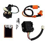 AC Racing Ignition Coil CDI Spark Plug Regulator Rectifier Relay Kit for Chinese 150cc 200cc ATV Quad Go Kart