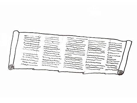 Buchrolle Plinius secundusSchriftrolle Papyrusrolle 4m lang echter Papyrus