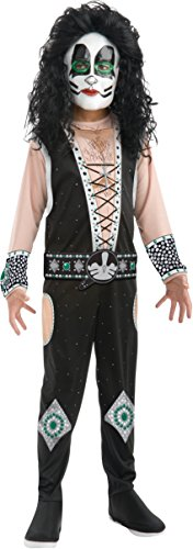 Catman Kiss Costumes (KISS Band - Catman Child Costume Size 12-14 Large)