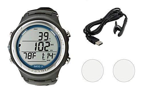 Oceanic GEO 2.0 Scuba Dive Computer Wrist Watch W/OCEANLOG Kit & Accessories