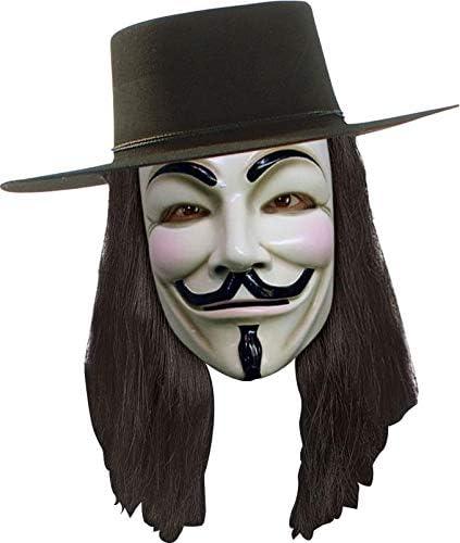 V for Vendetta Set Maske,Hut und Perücke aus Kuns