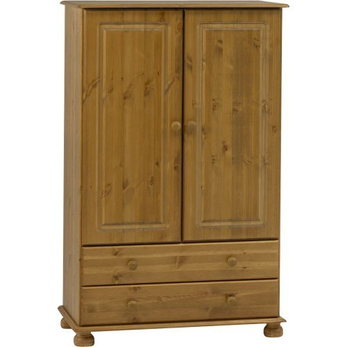 STRAND - Solid Wood 2 Door 2 Drawer Wardrobe - Antique Pine by Watsons on the Web Solid Pine Wardrobes