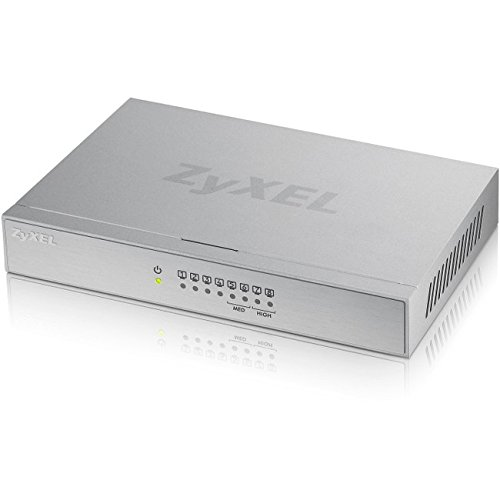 ZyXEL GS108BV3 v3/GS-108B v3 5/8-Port Desktop Gigabit Ethernet (Powerline Ethernet Wall Mount)