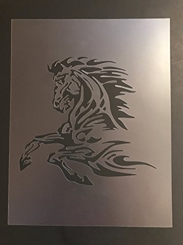 Horse Stencil #1 Reusable 10 mil Thick 7in x 9in sheet by Everyday Funny Finds