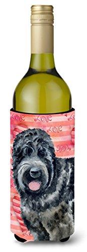 Caroline's Treasures BB9764LITERK Black Russian Terrier Love Decorative Bottle Hugger, 750ml, Multicolor (Russian Terrier Black)