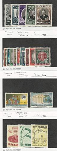 Nicaragua, Postage Stamp, C372-6 Mint LH, C377-86, C452-3, C520-2 NH, JFZ (C5202)