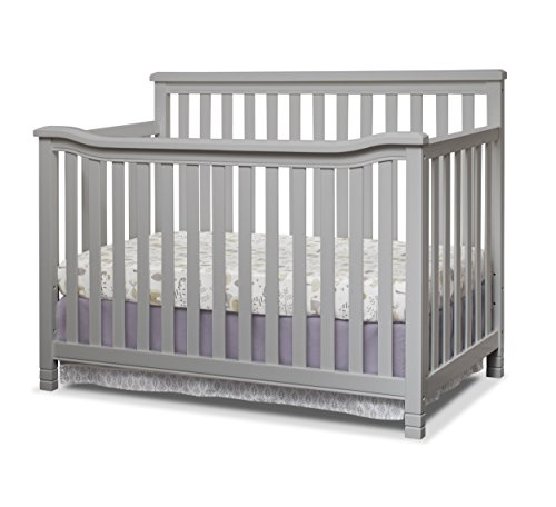 Sorelle Annie Elite 4-in-1 Convertible Crib, Grey
