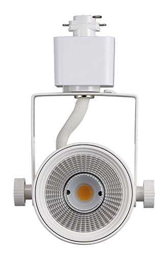 (Cloudy Bay LED Track Light Head,CRI90+ Warm White Dimmable,Adjustable Tilt Angle Track Lighting Fixture,8W 40° Angle for Accent Retail,White Finish,Halo Type)