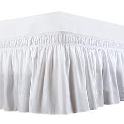 Biscaynebay Wrap Around Bed Skirts Elast...