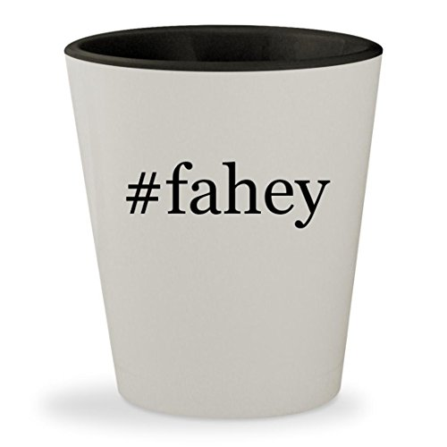 #fahey - Hashtag White Outer & Black Inner Ceramic 1.5oz Shot - Glasses Marie Claire