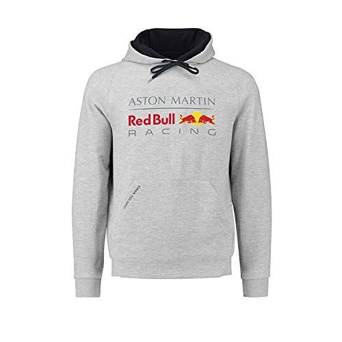(Red Bull Racing Aston Martin Formula 1 Men Gray Authentic 2018 Pull Over Hoodie (Large))