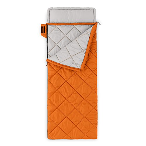 Core Equipment 30 Deg Classic Rectangle Sleeping Bag, Orange by CORE