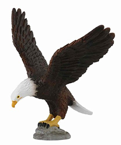 erican Bald Eagle Toy Figure - Authentic Hand Painted Model (American Wildlife Display)