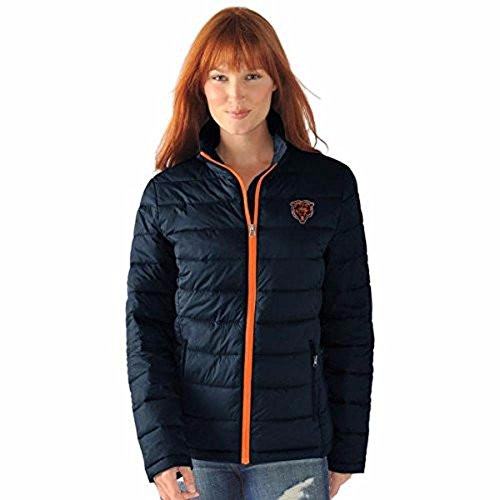 Chicago Jackets Bears Heavyweight - Licensed Sports Apparel Chicago Football Bears Women's Navy Packable Polyfill Jacket - XL