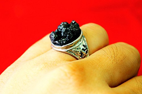 Natural Lek lai 20mm (Size10.5) Ring Lp Somphon Thai Buddha Amulet Pendant Protection With Special Gift (Fake Ice Makeup)