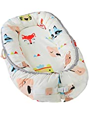Newborn Baby Nest - Easy to Move, Ideal for Co-Sleeping, Breathable and Soft, 100% Cotton and Eco-Friendly (Animal Print)