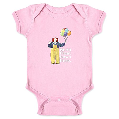 Pop Threads Clown Float Down Here Minimalist Halloween Costume Pink 24M Infant Bodysuit -