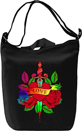 Love Sword Borsa Giornaliera Canvas Canvas Day Bag| 100% Premium Cotton Canvas| DTG Printing|