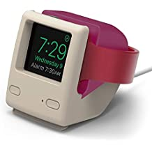 elago W4 Stand for Apple Watch Series 4 (40mm) / Series 3 / Series 2 / Series 1 / 42mm / 40mm / 38mm [Nightstand Mode][Vintage 1998 Design][Patent Pending] -Aqua Pink