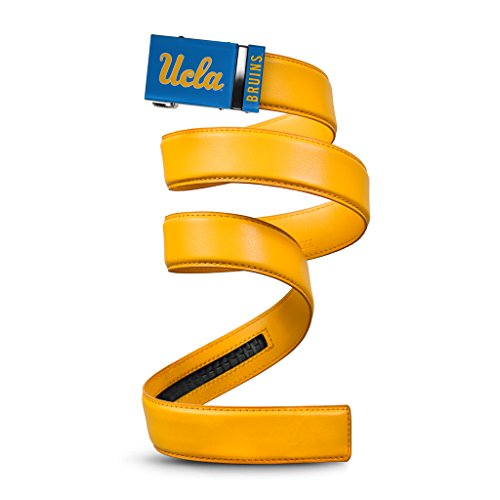 NCAA UCLA Bruins Mission Belt, Gold Leather, Small (up to 32)