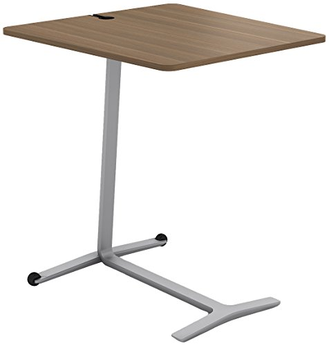 Steelcase Campfire Skate Table with Virginia Walnut Finish, Platinum Metallic ()