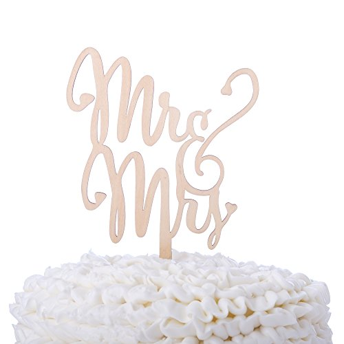 Mr & Mrs Wooden Wedding Cake Topper, Small Rustic Reception Decoration (Mr and Mrs)