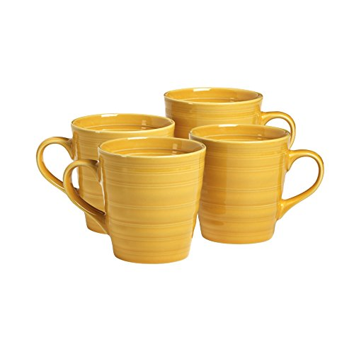 overandback 816293 Circo Yellow Mugs, Set of 4, Yello