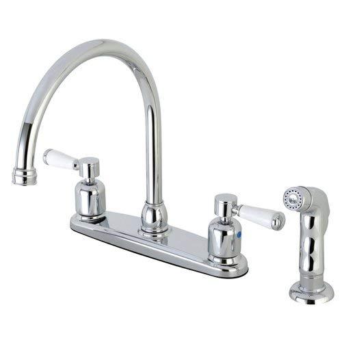 (OKSLO Paris fb791dplsp 8 centerset gooseneck spout faucet with poed chrome model x174 )